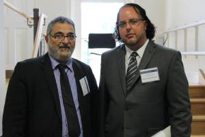 Dr. Morrow and Sayyid Yousif al-Khoei, grandson of Grand Ayatullah Abu al-Qasim al-Khoei, at Oxford University